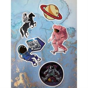 5 Space & Astronaut Stickers 🚀